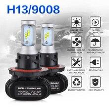 NICECNC H13 9008 Led Headlight 24V 50W 6000K Auto Car Fog Light Bulb For Chevrolet Cruze Dodge Challenger Ford E-150 Mini Cooper