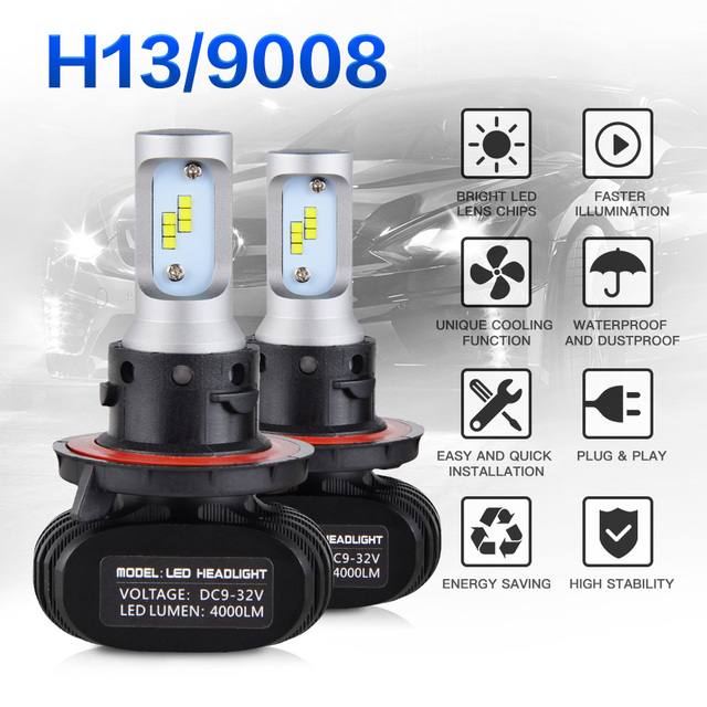 NICECNC H13 9008 Led Headlight 24V 50W 6000K Auto Car Fog Light Bulb For  Chevrolet Cruze