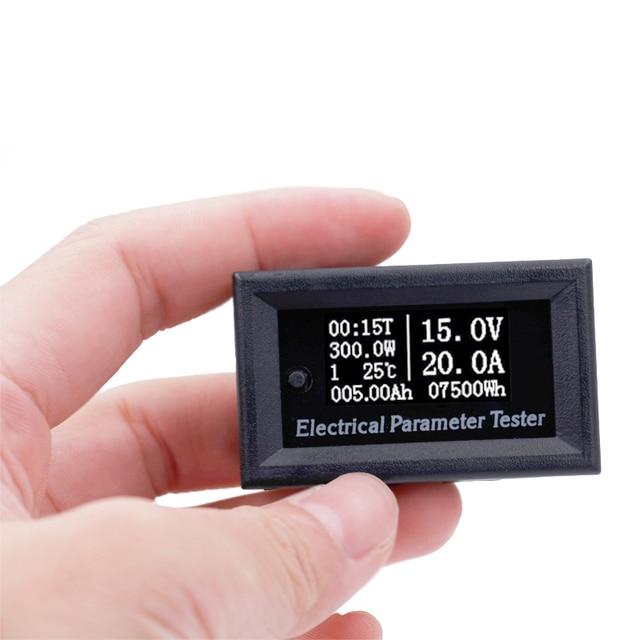 DC 100V 50A Voltmeter Ammeter LED Digital Voltage current power capacity Watt Time Amp Volt Meter Gauge 40%off
