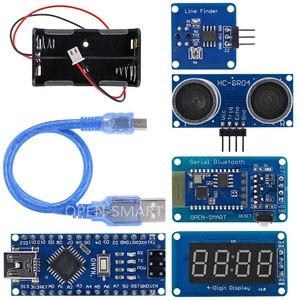 Image 5 - Dễ dàng Cắm 4WD Nối Tiếp Bluetooth Kiểm Soát Cao Su Bánh Răng Bánh Xe Động Cơ Thông Minh Xe X Kit với Hướng Dẫn đối với Arduino Nano/ UNO R3/Mega2560