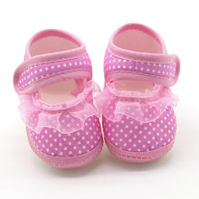 Newborn Infant Baby Dot Lace Girls Soft Sole Prewalker Warm Casual Flats Shoes Zapatos de bebe Scarpe da bambino *40(China)