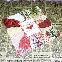 DIY floral vid hermosa decoración scrapbooking bloc de papel craft set troquelada diseño rojo pasión 12 pulgadas