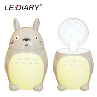 2016 New Totoro LED Desk Lamp Weak Strong Light USB Rechargeable Fold Flexible Table Reading Book