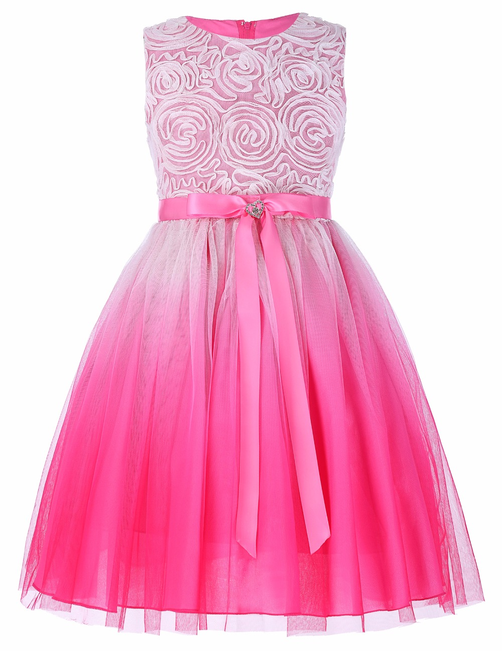 Grace Karin 2017 Flower Girl Dresses Luxury Tulle Flower Party Dresses For Wedding Party First Communion Dresses With Bow Ribbon 4