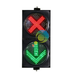 High quality 200mm red cross and green arrow road safety traffic signal light LED traffic light