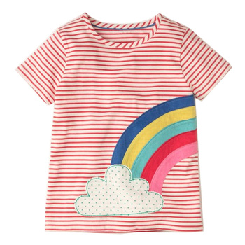 06cbff7ea Camisetas de verano para niñas, camisetas para niños, ropa de bebé, 2019  camiseta de unicornio, camiseta de niña, 100% algodón, ropa para niños ...