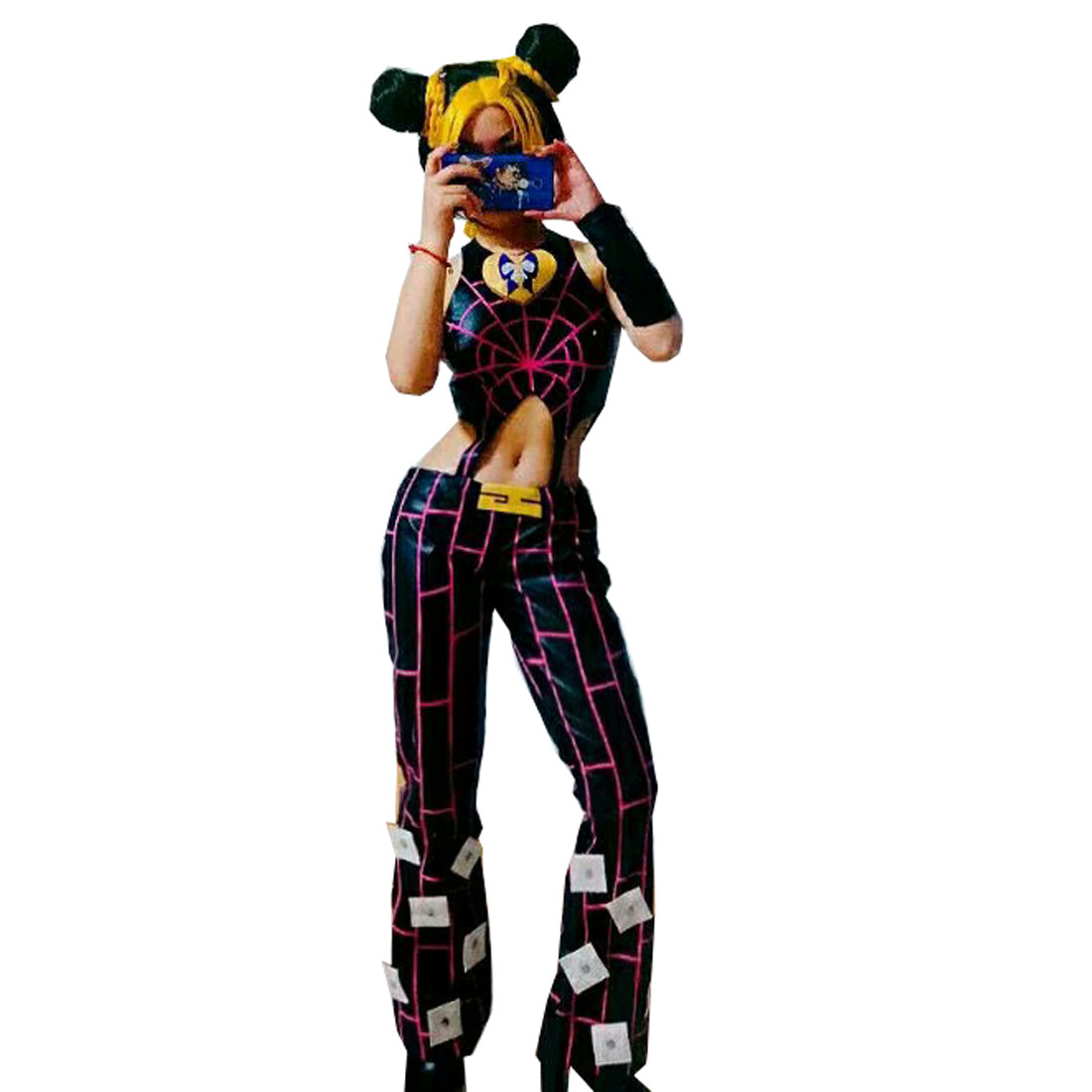 2019 JoJo's Bizarre Adventure Cosplay Jolyne Cujoh Kujo Costume Top+Pant