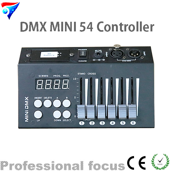 Free Shipping MINI DMX 54 Controller Stage Lighting DJ Equipment Dmx Console dhl free shipping 54ch mini dmx controller console dj console dj controller dj lighting controller 9v battery 12v dc powered