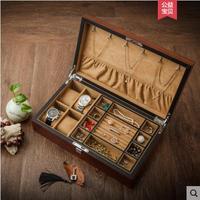 Бесплатная доставка Роскошная оригинальная деревянная 4 слота деревянная коробка для часов коробка ювелирных изделий для часов Роскошная