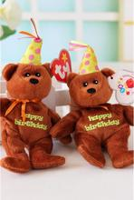 Adorable font b Stuffed b font font b Animal b font TY Happy Birthday Teddy Bear