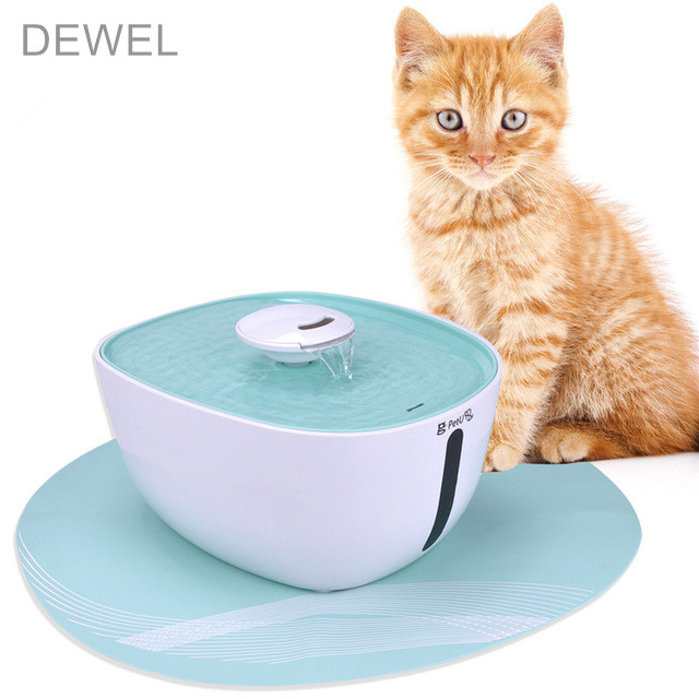 2.2Л. поилка для собак автоматический фонтан для кошек поилка для кошек + циновка+угольный фильтр диспенсер для воды