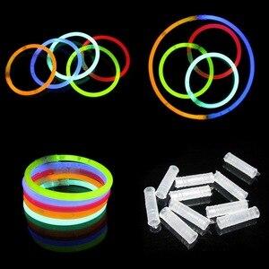10 pçs/set engraçado brilho fluorescência luz varas pulseiras colares de néon para crianças luminosas led brinquedos novidade luz da noite