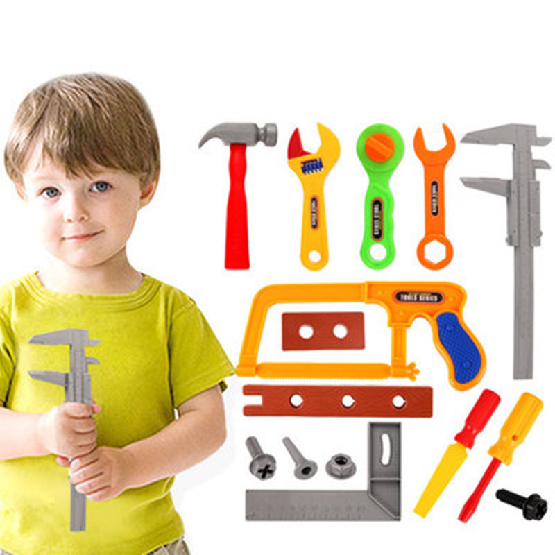 WEYA 19pcs/set Tool Toys Pretend Play House Simulation Repair Kit Power Workshop Engineer Tools Toys Boys Kids Gifts