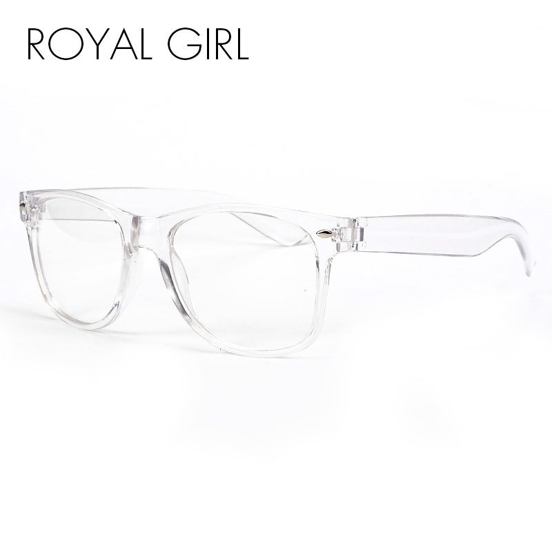 royal girl new fashion eyeglasses transparent frame glasses cool driving spectacles for women ss023china