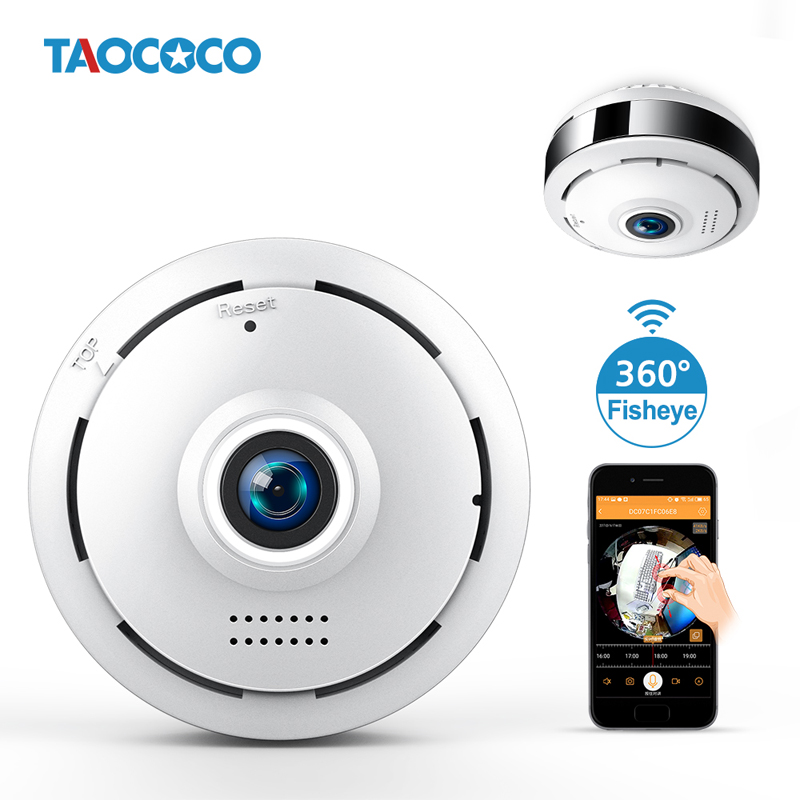 TAOCOCO HD Fisheye IP Camera 360 Degree Panoramic Wireless WiFi Camera 960P Home Security Camera 10M IR Night Vision CCTVTAOCOCO HD Fisheye IP Camera 360 Degree Panoramic Wireless WiFi Camera 960P Home Security Camera 10M IR Night Vision CCTV