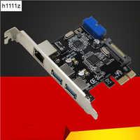 USB 3.0 adapter sieci ethernet 3 Port USB 3.0 HUB 10/100/1000 Mbps PCI-E do RJ45 Gigabit sieci adapter lan Usb karta sieciowa ethernet