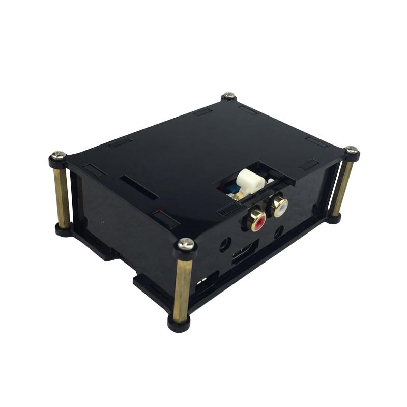 Raspberry Pi 3 Acrylic Audio Board Sound Card Case HIFI DAC Expansion Board Box Black Acrylic Shell 2016 new raspberry pi zero board aoide hifi dac plus sound card frosted acrylic case audio 3 5 jack to 2 rca cable kit