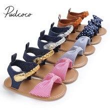 Г. Новые брендовые босоножки на завязках с бантиком для новорожденных девочек, летняя Тканевая обувь для ползунков повседневная обувь с бантом для детей от 0 до 18 месяцев