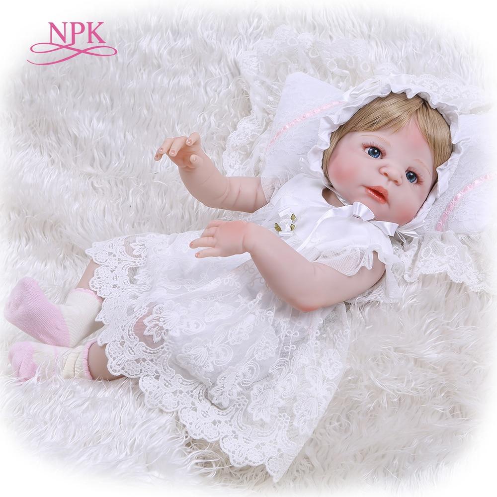 NPK Reborn Baby Doll Full Body Silicone Vinyl Adorable Lifelike Toddler Baby Bonecas Girl Lifelike Newborn Princess Kids Toys недорого