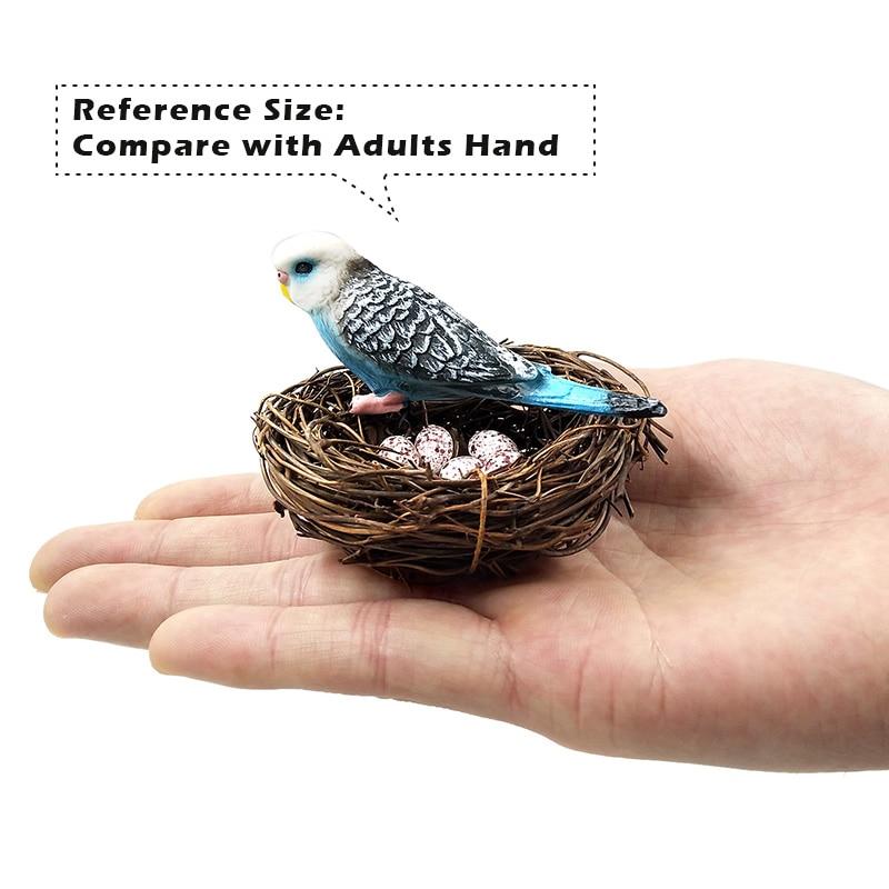 DIY Simulation Animal model Parrot Bird Nest Egg figurine Bonsai home decor miniature fairy garden decoration accessories modern in Figurines Miniatures from Home Garden