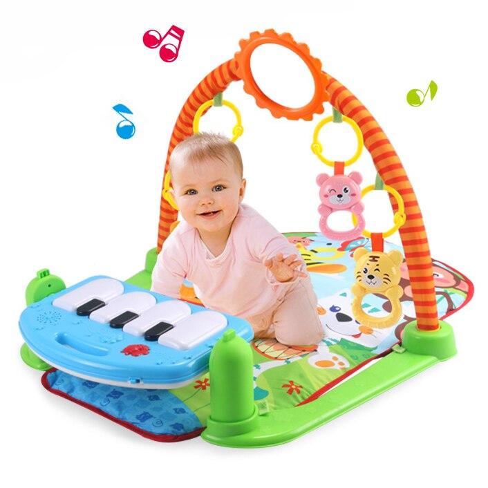 Baby Gym Tapis de Jeu Kick et Jouer du Piano Gym Lumière Musical bébé Jouets 0-12 Mois Brinquedos Para Bebe Oyuncak Jouets pour Les Nouveau-nés