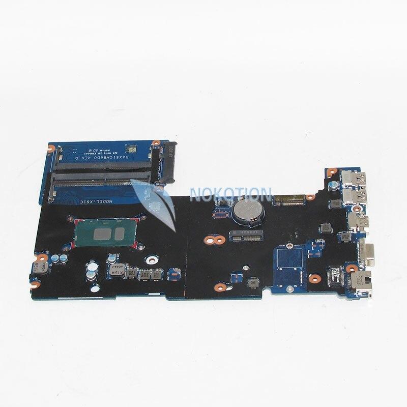 NOKOTION 826376-001 DAX61CMB6D0 Notebook PC Main Board For HP probook 430 G3 440 G3 Laptop motherboard SR2EV 3885U CPU 830931 601 free shipping 830931 001 830931 501 for hp probook 450 g3 470 g3 laptop motherboard da0x63mb6h1 i5 6200u cpu