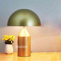 QC085 Nordic Post modern Minimalist Metal Table Light Creative Art Mushroom Table Lamp Living Room Bedroom Hotel Bedside Lamp