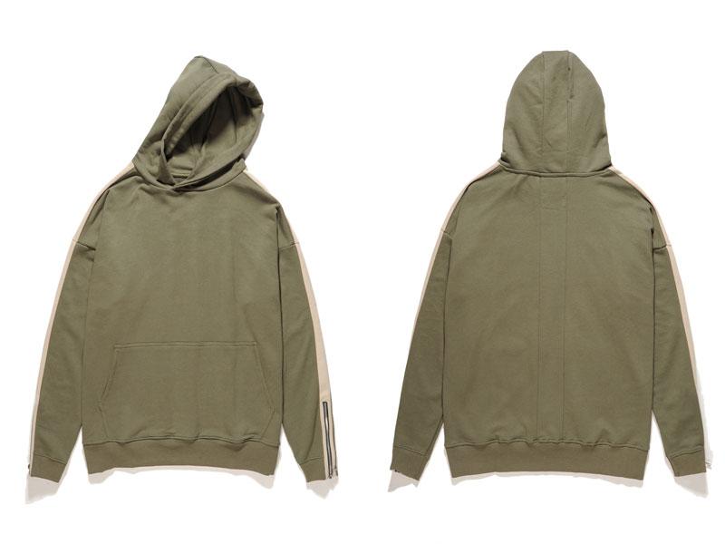 Zipper Sleeve Hoodies 6