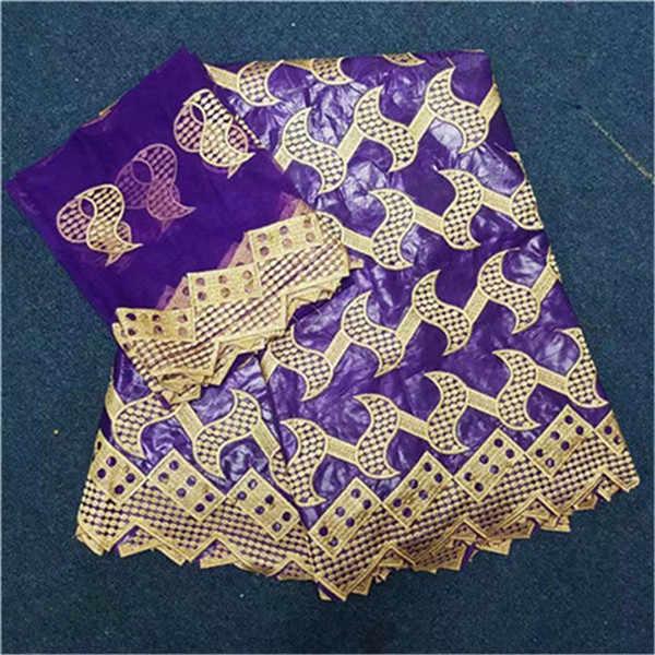 Châu Phi vải bazin Riche vải với hạt bazin brode getzner với Pháp phối ren dạ nỉ vải thổ cẩm 5 + 2 bãi/rất nhiều