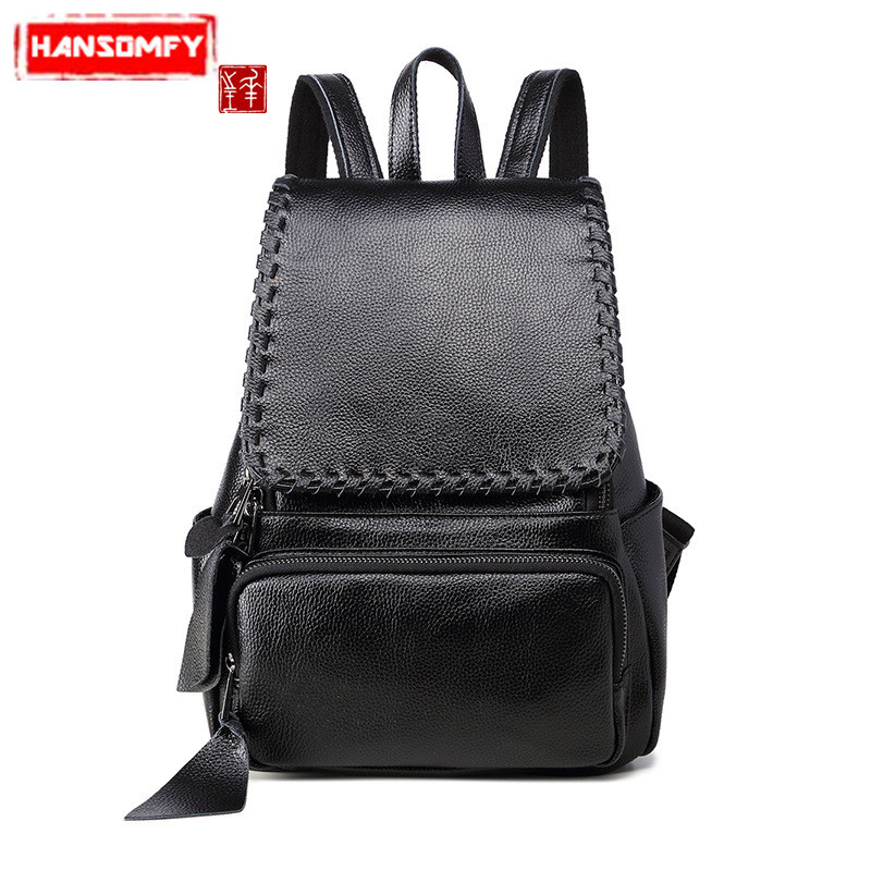 New Genuine leather Women Backpacks Korean influx of women s shoulder bag female fashion travel bag schoold bagsNew Genuine leather Women Backpacks Korean influx of women s shoulder bag female fashion travel bag schoold bags