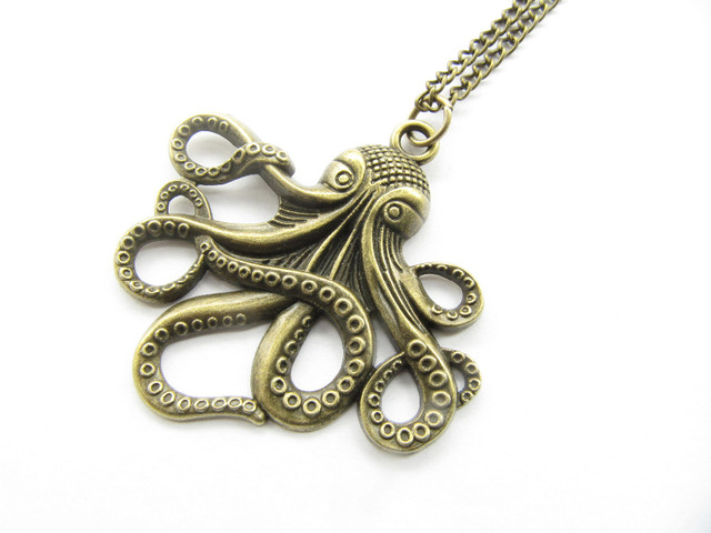 2pcs bronze octopus jewelry necklace octopus pendant big octopus 2pcs bronze octopus jewelry necklace octopus pendant big octopus necklace krakencthulhu mozeypictures Choice Image