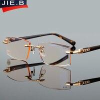 Высококачественные специальные режущие Объективы для пресбиопии мужские стильные квадратные модные очки для чтения пресбиопические очки ...