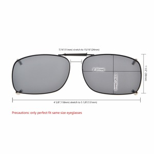 Image 5 - C75 Eyekepper Grey/Brown/G15 Lens 3 pack Clip on Polarized Sunglasses 51x36MM