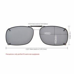 Image 5 - C75 eye kepper gris/marron/G15 lentille 3 pack lunettes de soleil polarisées à clipser 51x36 MM