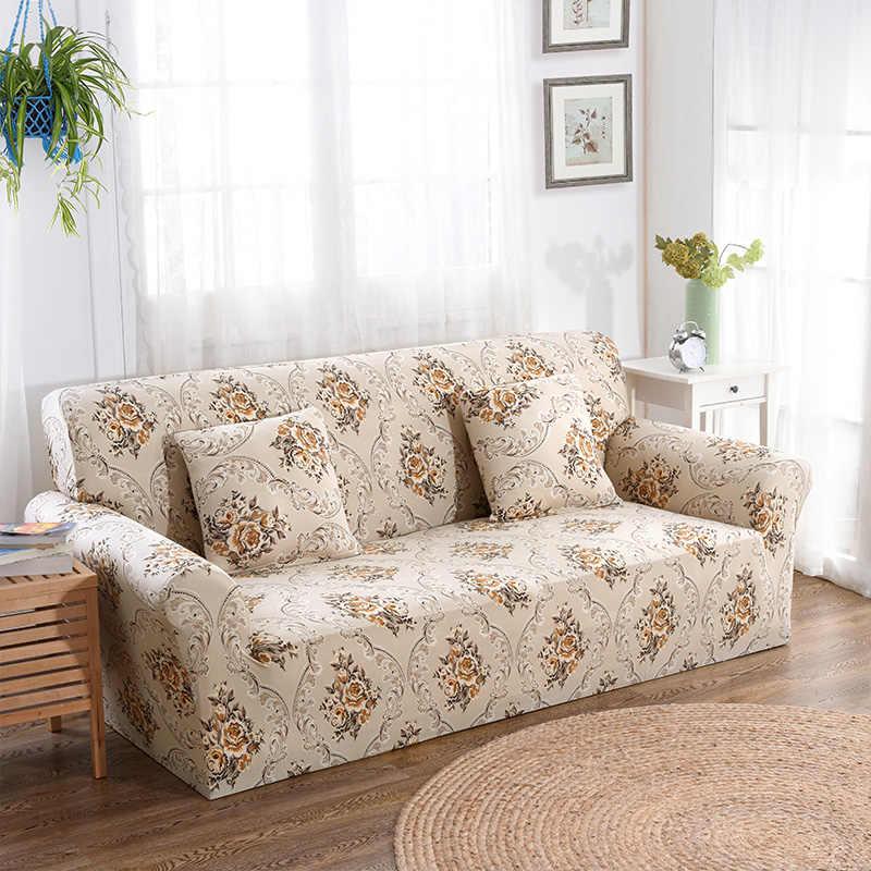Elástica Tampa Do Sofá para Sala de estar Sofá Secional Móveis Protetor de Tampa Do Sofá Slipcovers Spandex do Estiramento 1/2/3 /4 Seater
