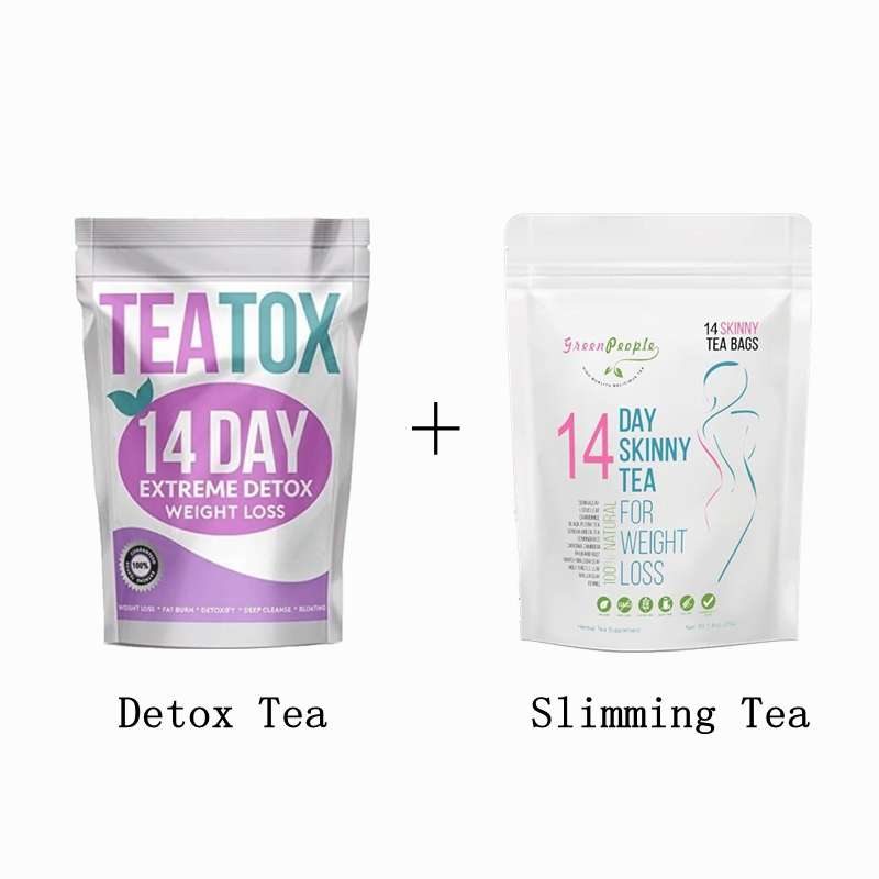 14 Days Fat Burning Slimming Tea & Detox Tea for Weight Losing Healthy Skinny Tea Bags Men and Women Skin Care Products