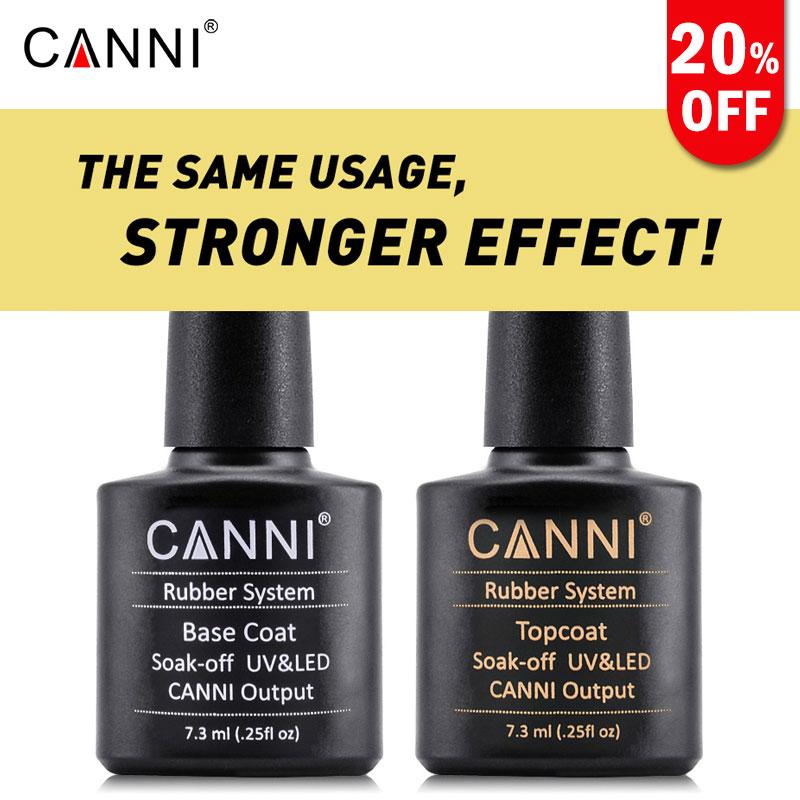 CANNI Metal Effect Nail Polish Gel Nail Art 7.3ml Base Coat and Top ...