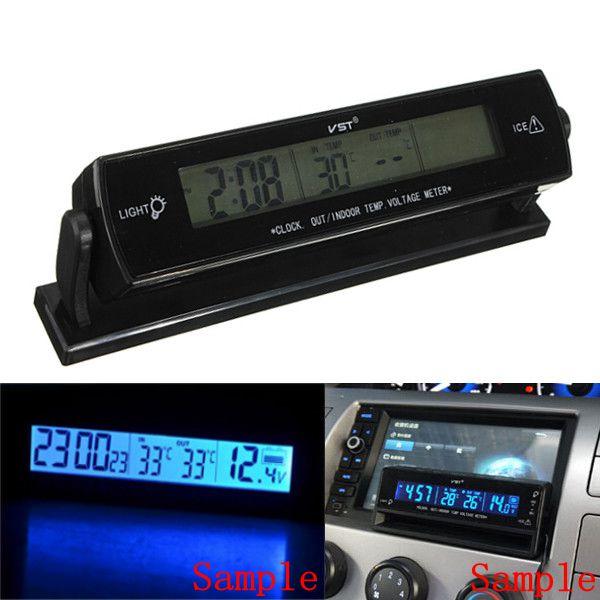 Prix pour 12 V Auto Tension Moniteur Numérique Alarme de Batterie Horloge LCD Température Thermomètre