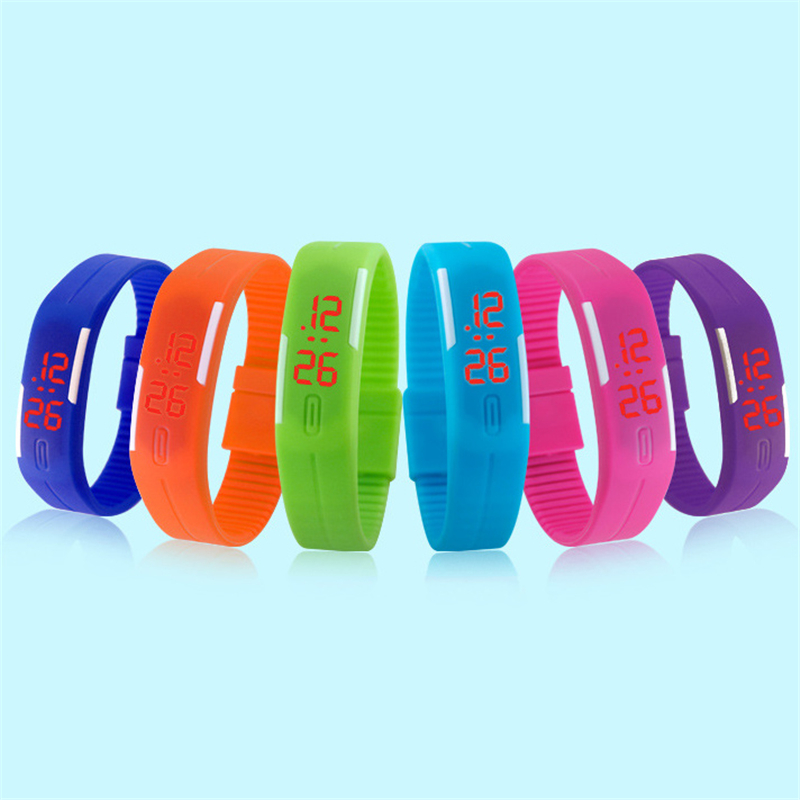 2017 Unisex Silicone Bracelet Electronic Digital High quality LED Sport Stylish Wrist Watch new fashion design unisex sport watch silicone multi purpose date time electronic wrist calculator boys girls children watch