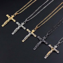 Vintage Classic Punk Statement Necklaces Trendy Male Crucifix Cross Jesus Piece Necklaces Men Jewelry xlct017 цены онлайн