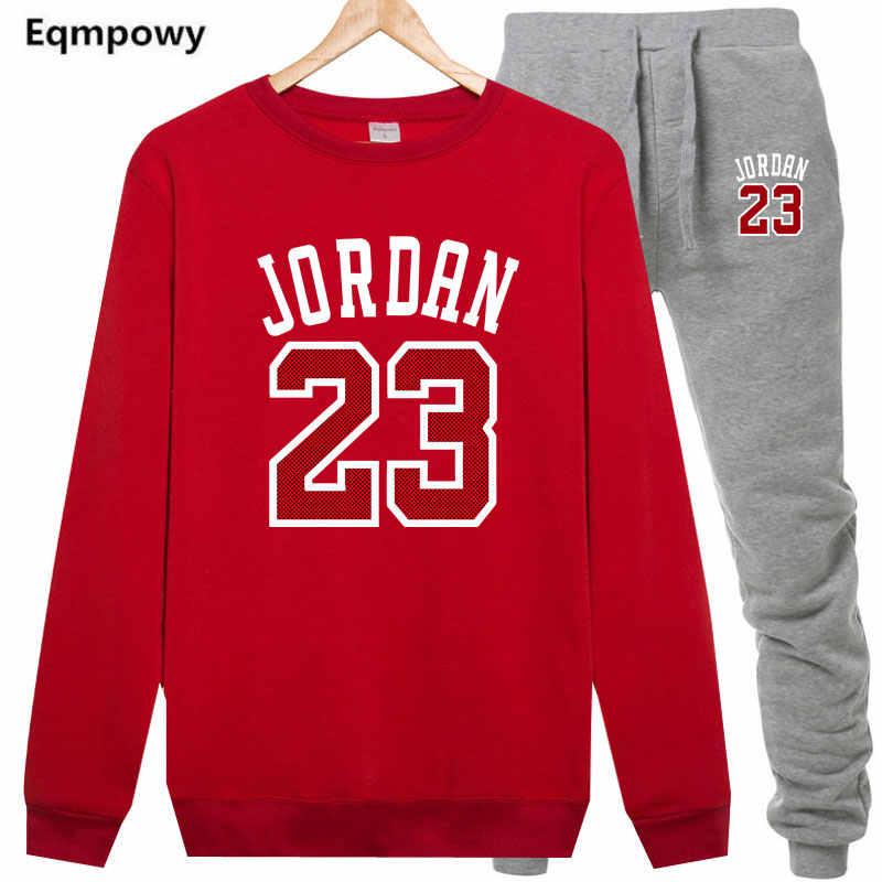 d9d3c9393 ... 23 JORDAN Men Sportswear Hoodies Set Spring Suit Clothes Tracksuits  Male Sweatshirts Coats Track Suits Joggers ...