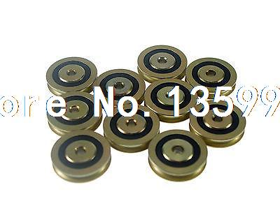(10) 6.5*36.5*9.5mm 0638UU U Groove Guide Pulley Sealed Rail Ball Bearings 4mm walking guide rail groove u groove 604uu 4 12 4 5 mm 3d printer dedicated feeding roller bearings u604w5 u604zz
