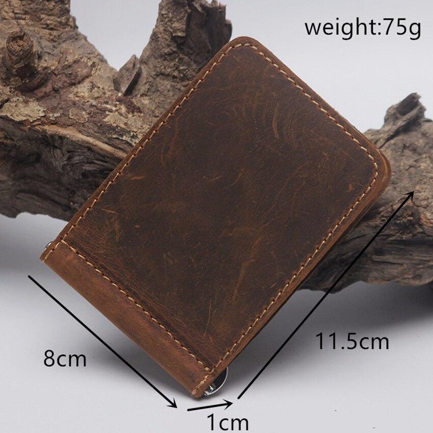 aberto braçadeira para o dinheiro Vintage Wallet : Genuine Leather Purse