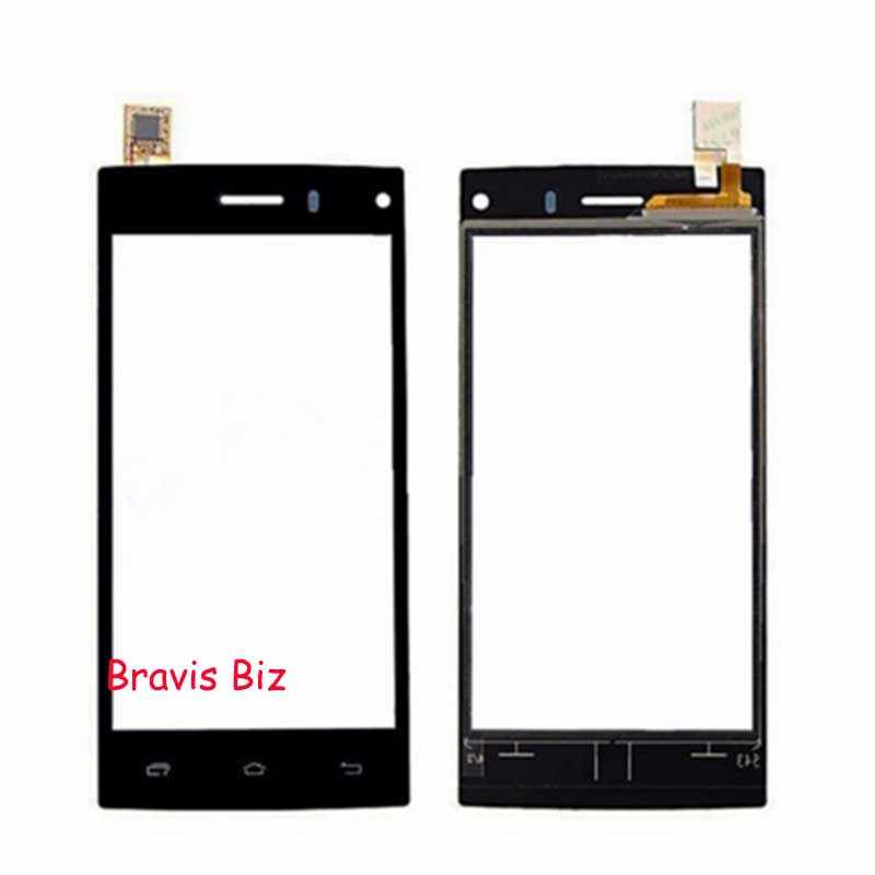 Pannello di Tocco Del Telefono Moible Anteriore Esterno Obiettivo di Vetro Per Bravis Biz Sensore Touch Screen Touchscreen di Ricambio nero bianco