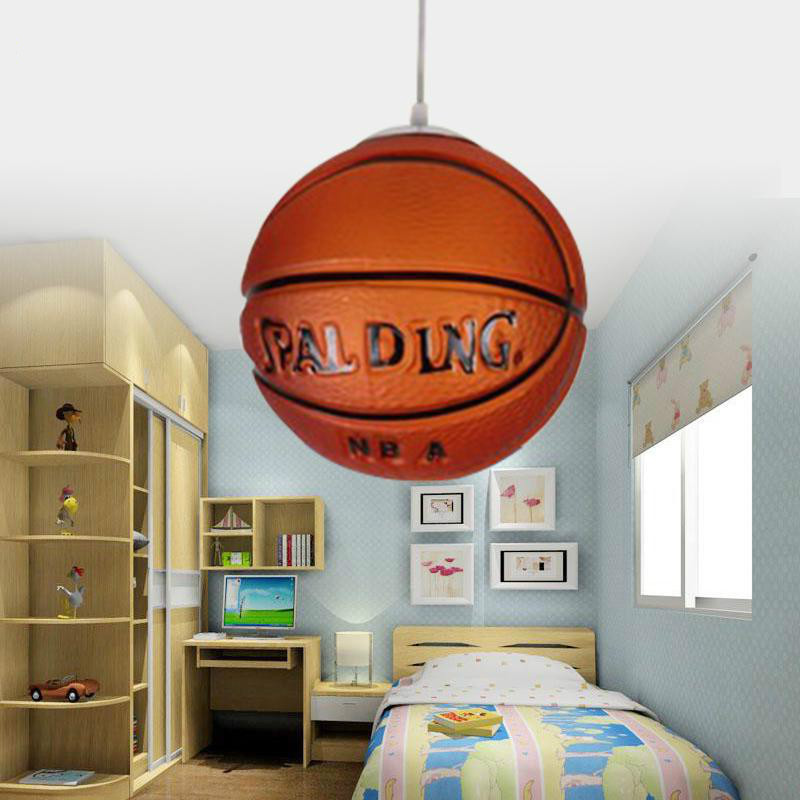 E27 Single Head Glass Basketball light Football pendant lamp Children Room Lamps Chandeliers Modern Lighting Light FixturesE27 Single Head Glass Basketball light Football pendant lamp Children Room Lamps Chandeliers Modern Lighting Light Fixtures