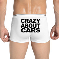 Sale Fashion Underwear Boxers Men Crazy about motor cars Sexy Gay Shorts Boxer Homme Men's Panties Brand Cotton Cuecas Masculina