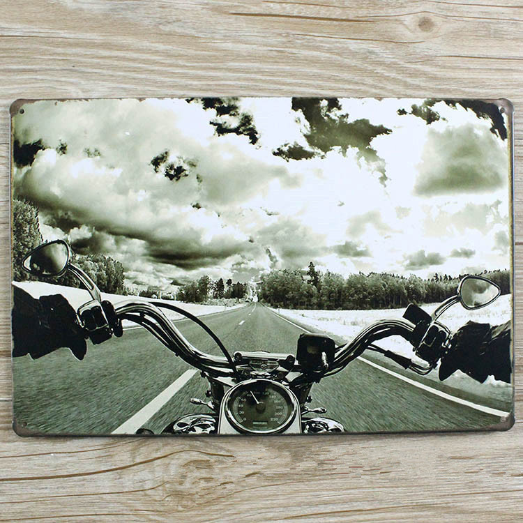 RZXD-204 Vintage tin signs Speeding Super motoWall art craft metal painting Iron for bar vintage home decor 20x30 CM ...