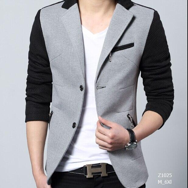 100% good High Quality 2016 autumn New Fashion Cotton Slim Plus Size 4Xl 5XL  Korea Style Suit  Male Jacket Blazer Men