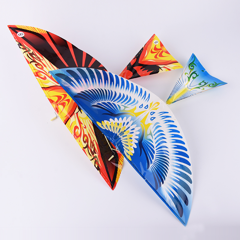 1PC DIY Assembly Flapping Wing Flight Model Rubber Birds Aircraft Kite Outdoor Toys Plane Kitesurf Airplane Toys For Children image