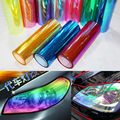30*60cm Roll Shiny Cool Chameleon Car film Sticker Motorcycle Car Styling Headlights Taillights 6 Color Change waterproof DIY